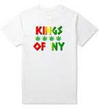 Puff Puff Pass Mens T-Shirt White by Kings Of NY