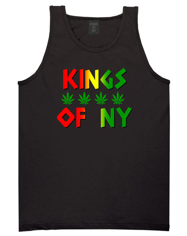 Puff Puff Pass Mens Tank Top Shirt Black by Kings Of NY