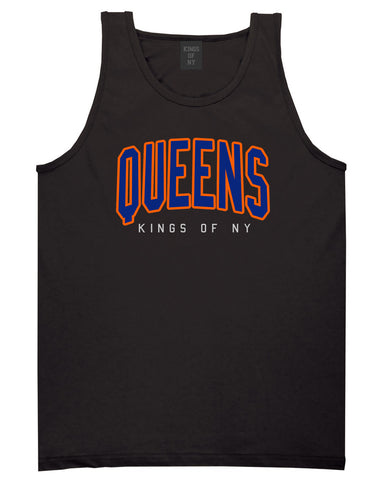 Queens Blue Orange Mens Tank Top Shirt Black by Kings Of NY