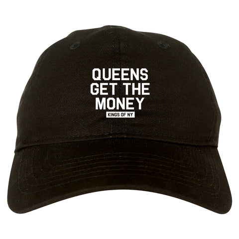 Queens Get The Money Mens Dad Hat Baseball Cap Black