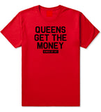 Queens Get The Money Mens T-Shirt Red by Kings Of NY