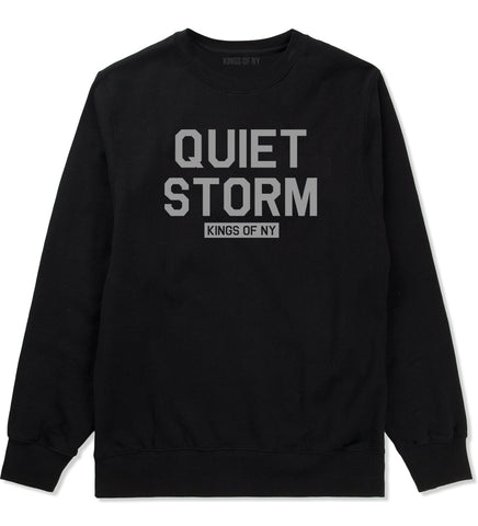 Quiet Storm Kings Of NY Mens Crewneck Sweatshirt Black