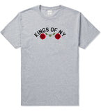Red Roses Crest KONY T-Shirt in Grey