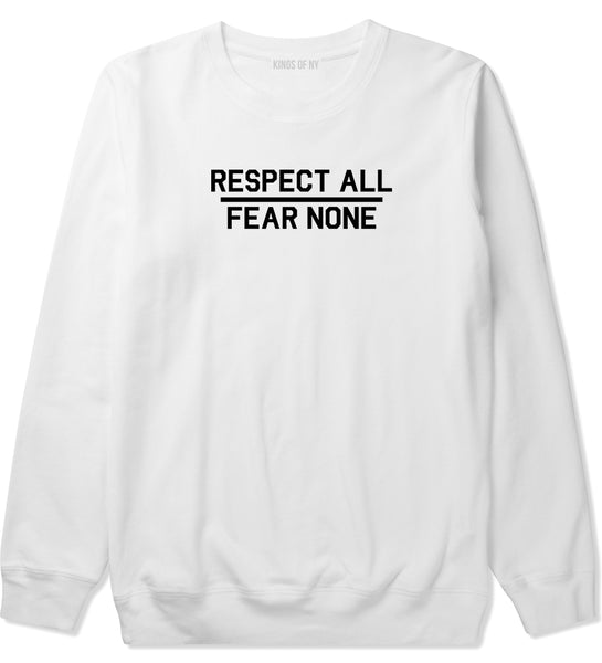 517e8619 Respect All Fear None Mens Crewneck Sweatshirt by KINGS OF NY