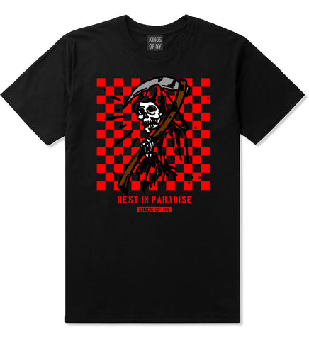 Rest In Paradise Grim Reaper Mens T-Shirt Black By Kings Of NY