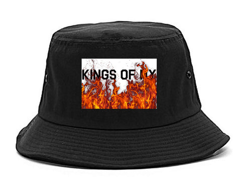 Rising From The Flames Bucket Hat in Black