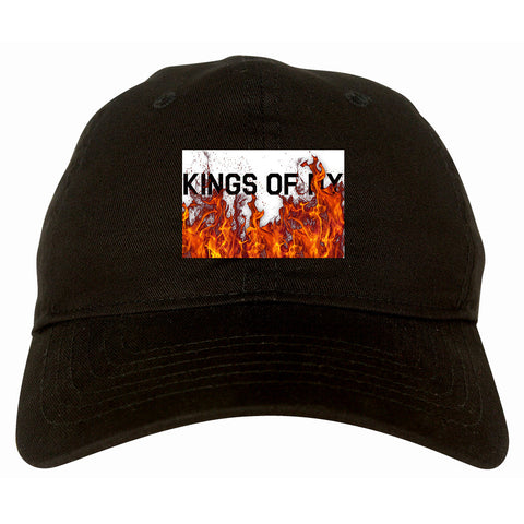 Rising From The Flames Dad Hat in Black