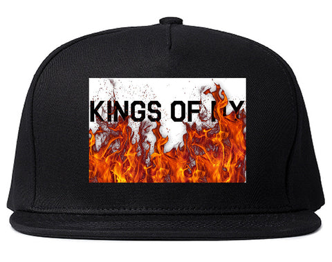 Rising From The Flames Snapback Hat Cap in Black