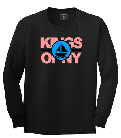 Sailing Team Long Sleeve T-Shirt in Black