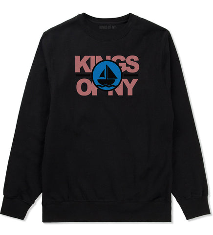 Sailing Team Crewneck Sweatshirt in Black
