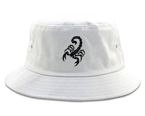d0f7a20d ... Scorpion Insect Mens Bucket Hat White ...
