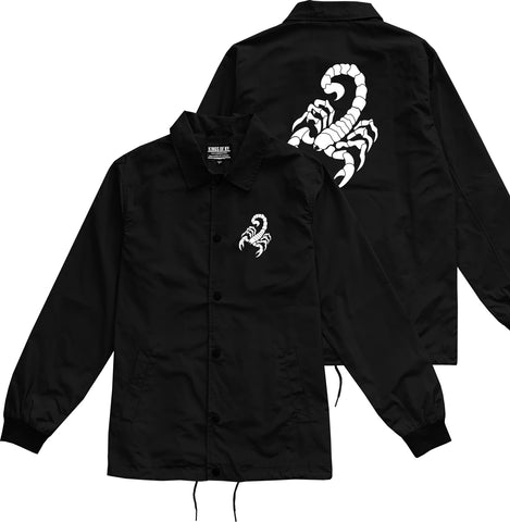Scorpion Mens Coaches Jacket Black by Kings Of NY
