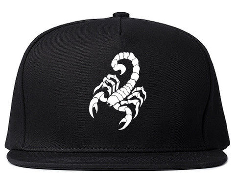 Scorpion Insect Mens Snapback Hat Black