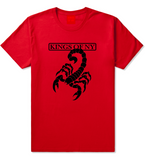 Scorpion Mens T-Shirt Red