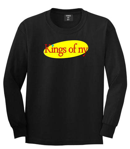 Seinfeld Logo Long Sleeve T-Shirt in Black