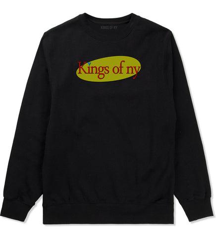 Seinfeld Logo Crewneck Sweatshirt in Black