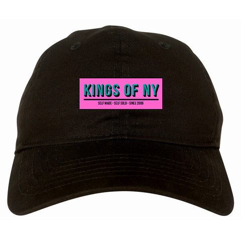 Self Made Self Sold Pink Dad Hat in Black