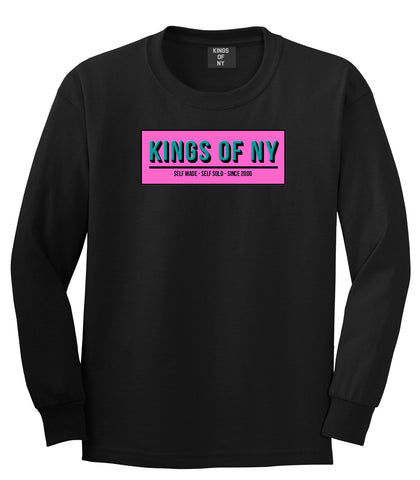 Self Made Self Sold Pink Long Sleeve T-Shirt in Black