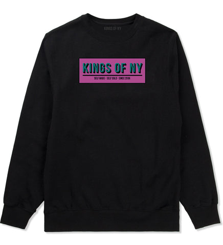 Self Made Self Sold Pink Crewneck Sweatshirt in Black