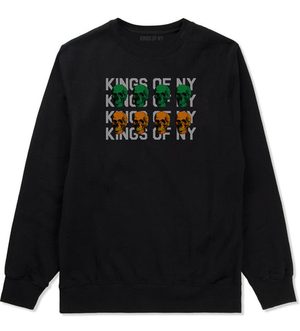 Skull Colors Crewneck Sweatshirt in Black