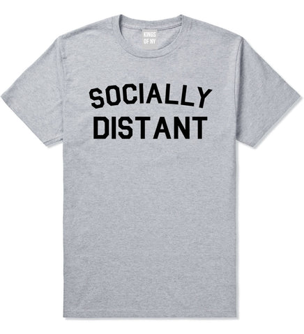 Socially Distant Mens T-Shirt Grey
