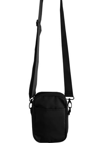 Solid Black Mens Small Crossbody Sling Bag