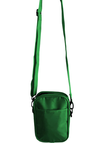 Solid Green Mens Small Crossbody Sling Bag