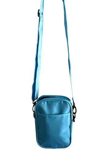 Solid Light Blue Mens Small Crossbody Sling Bag
