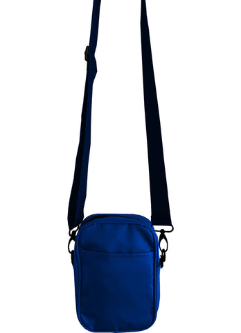 Solid Royal Blue Mens Small Crossbody Sling Bag