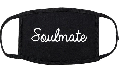 Soulmate Love Soul Wife Cotton Face Mask Black