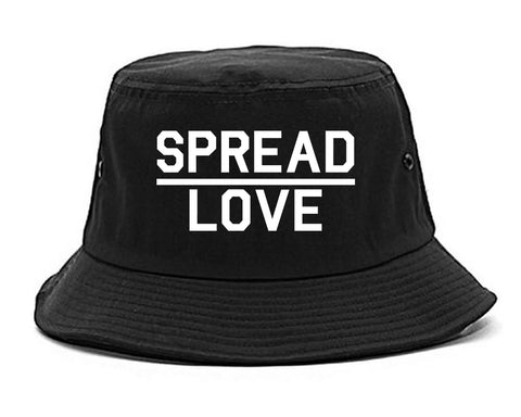 Spread Love Brooklyn Black Bucket Hat