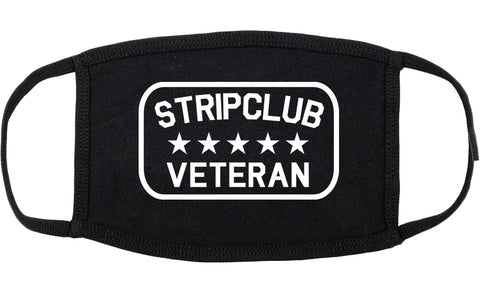 Stripclub Veteran Cotton Face Mask Black