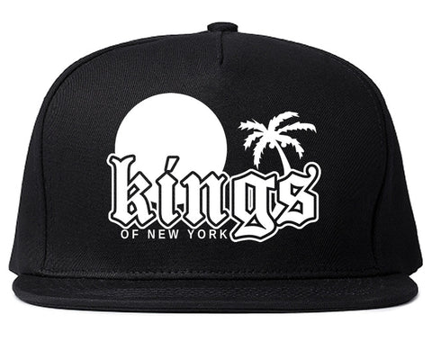 Sunsets And Palm Trees Mens Snapback Hat Black