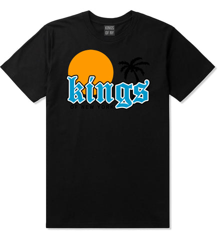 Sunsets And Palm Trees Mens T-Shirt Black