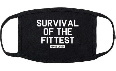 Survival Of The Fittest Cotton Face Mask Black