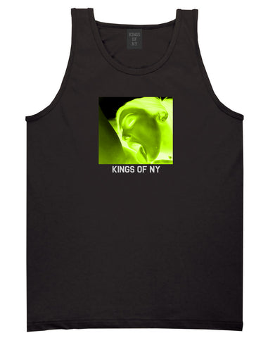 Taste Neon Green Yellow Mens Tank Top Shirt Black by Kings Of NY