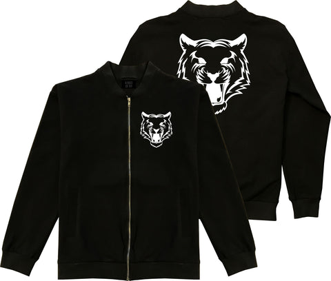 Tiger Face Mens Bomber Jacket