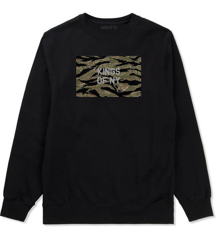 Tiger Stripe Camo Army Crewneck Sweatshirt in Black