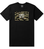 Tiger Stripe Camo Army T-Shirt in Black