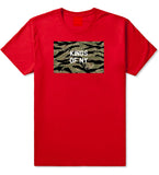 Tiger Stripe Camo Army T-Shirt in Red