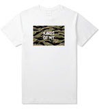 Tiger Stripe Camo Army T-Shirt in White