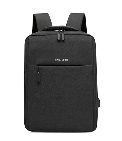 Two Compartment USB Charging Backpack Black