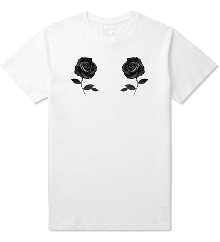 Two Roses Floral T-Shirt in White