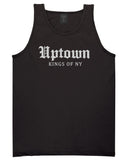 Uptown Old English Mens Tank Top Shirt Black by Kings Of NY