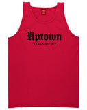 Uptown Old English Mens Tank Top Shirt Red by Kings Of NY