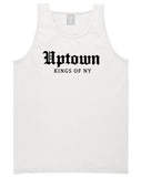 Uptown Old English Mens Tank Top Shirt White by Kings Of NY