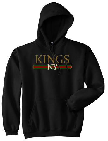Vintage High Fashion Pullover Hoodie in Black