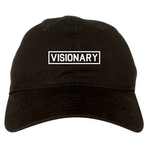 Visionary Box Mens Dad Hat Baseball Cap Black