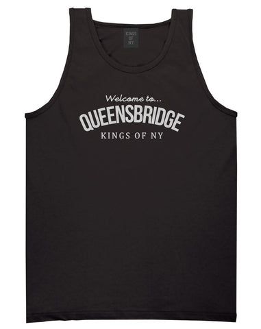 Welcome To Queensbridge Mens Tank Top Shirt Black by Kings Of NY