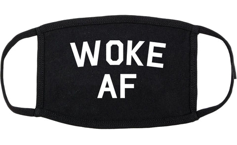Woke AF Cotton Face Mask Black